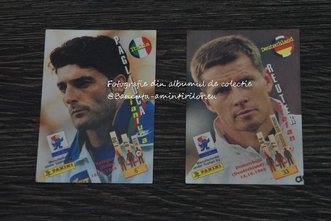 Cartonase Panini France '98 - Pagliuca, portarul Italiei si Reuter de la Germania