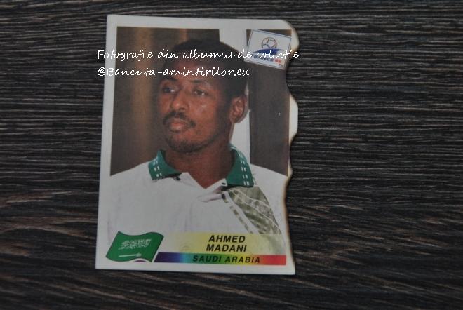 Jucatorul Ahmed Adami al Arabiei Saudite apare in albumul Panini France 1998